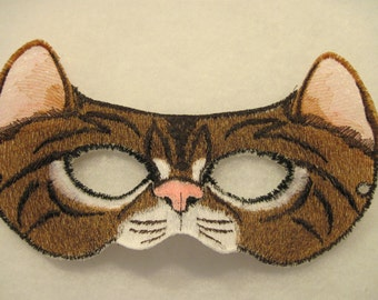 Cat Eyes Mask - mostly Brown