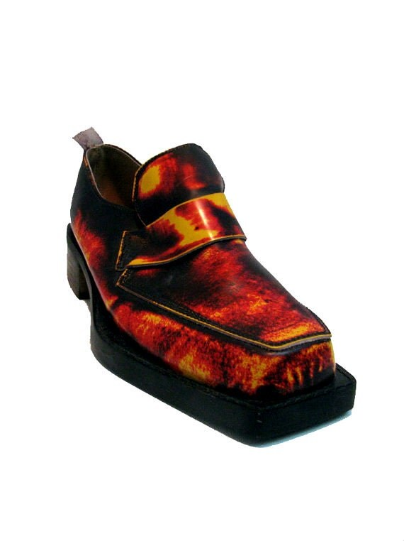 John Fluevog Shoes Made In England Vintage Mens Hellfire Flame