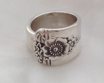 Spoon Ring Spring Charm 1950 Vintage Silverplate Choose Your Size Silverware Jewelry