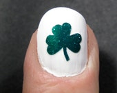 Shamrock St. Patrick's Day Toe nail / finger nail art / tattoos / decals / stickers / pedicure