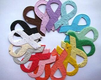 25 Seed Paper Awareness Ribbons