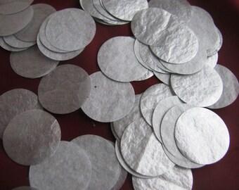 1,000 Metalic Silver Tissue Paper Circle confetti