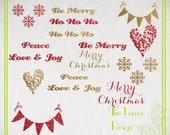 14 PNG Glitter Christmas holiday overlays