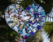 Mirror Mosaic Heart Outrageously Sparkles: He loves me! She loves me not! - shipping included