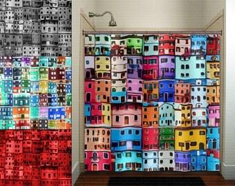 Modren Colorful Fabric Shower Curtains Mildewfree Waterrepellent