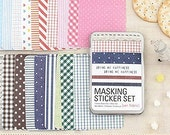 Masking Stickers in Iron Case / Fabric - 27 sheets (2.8 x 4.3in)