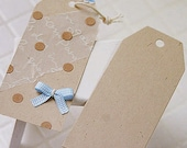 50 Standard Gift Tags - Natural Beige (1.8 x 3.8in)