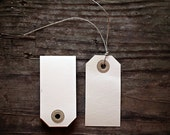 Set of 25 Manila Gift Tags-  2 3/4 x 1 3/8 inch -  select option-with hemp string or without