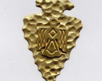 3 Thunderbird Arrowhead Brass Metal Stampings