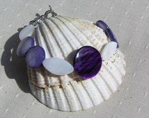 "Violet & Ivory Mother of Pearl Bracelet ""Sea Berry"" Special Offer Price"