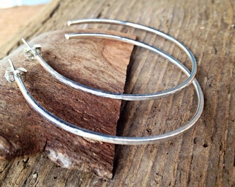 Post Hoop Earrings - Silver