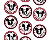 "Monthly Baby Stickers - ""Mickey Ears"" - Boy/Girl"