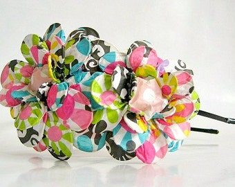 Double the Colors Daisy Paper Mache Headband