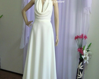 Elizabeth - Vintage Inspired Elegant Floor Length Bridal Gown.