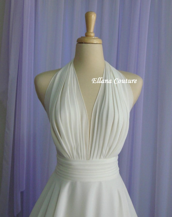 Liliana retro inspired tea length wedding dress for Etsy tea length wedding dress