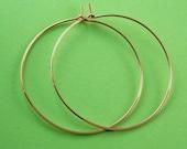 Large Gold Hoop Earrings - gold hoop earring - large gold filled hoops -  gold hoops -  2 inch to 4 inch  - Cecile Stewart Jewelry No.00E133