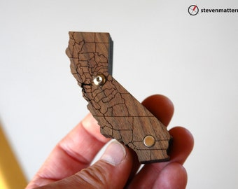 California Pipe with county lines - Mahogany