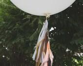 Balloon Tassels: Peaches 'n Cream