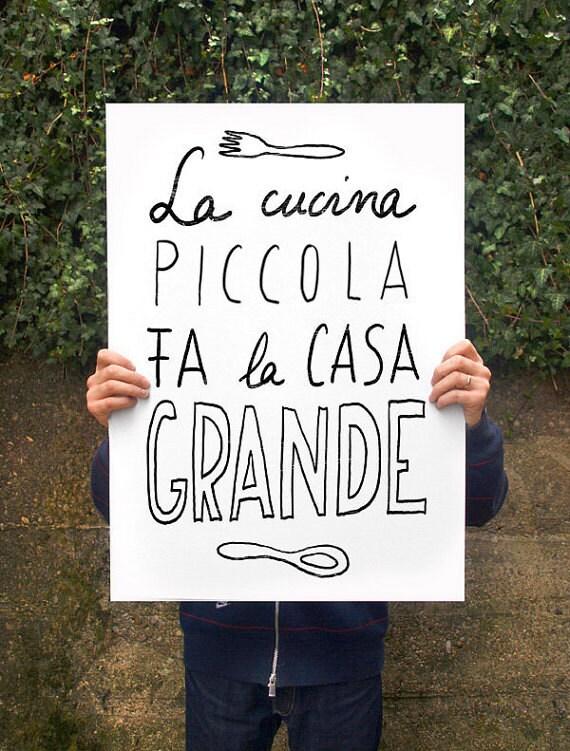 "Cucina picolla Anek poster print 20""x27"" - archival fine art giclée print"