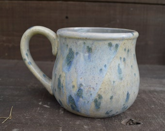 Desert Sand with Taupe - Handpainted Ceramic Coffee Mug - Speckled Glaze - OOAK