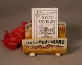 Business cards/Business Card Holder/pottery card holder/office accessories/ card holder/ business cards/Amber READY O SHIP