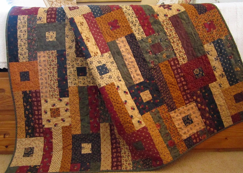 Boho Bedroom Decor Patchwork Quilt Handmade Prairie Hills