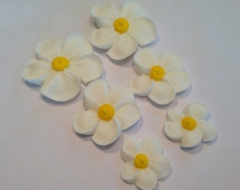 lot of 100 Royal Icing flowers