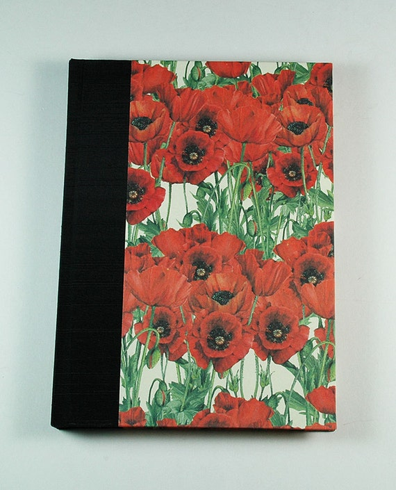 Address Book FIELD of POPPIES  handmade in the USA