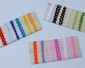 20 yards of 5mm ric rac trim in the colors of your choice - mix up to 10 colors