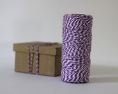 Violet Purple & White Bakers Twine - 10 metres - Great for Valentines crafts and gift wrapping