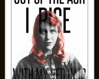 Sylvia Plath ART PRINT