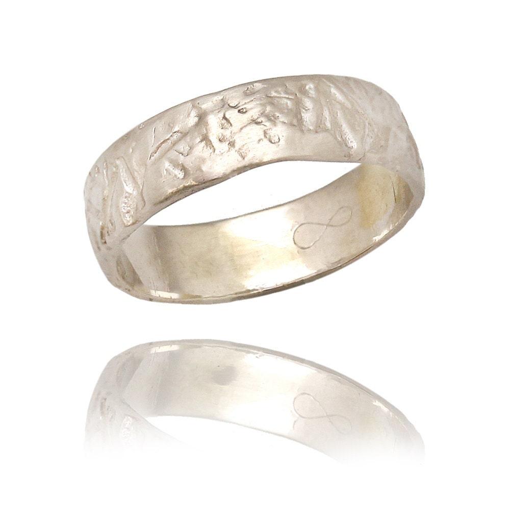 14k gold engraved leaf wedding band wide wedding band unisex