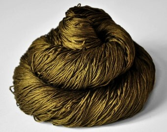 Dried brown algae - Silk Lace Yarn