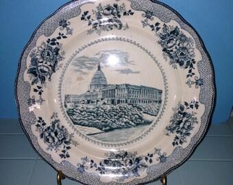 Vintage Capitol Building Washington DC Souvenir Plate