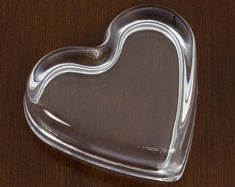 Heart - Glass Paperweight Frame  |  Handcrafted in America  |  Personalize with Images, Artwork, Crafts