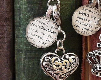 Grandmother, Beauty, Caring, Love Bookmark Personalized Grandma Aunt Sister Mom Mother Kristin Victoria Designs