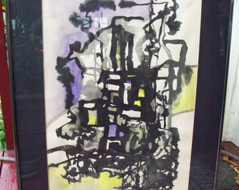 Early Ron Chaddock (1936 - 2003) Abstract Watercolor - 1960's