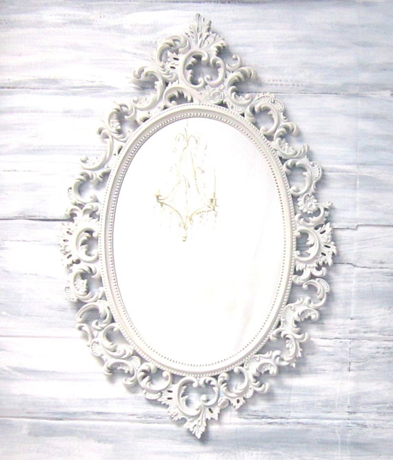 Decorative vintage mirrors for sale french country oval shabby for Fancy oval mirror