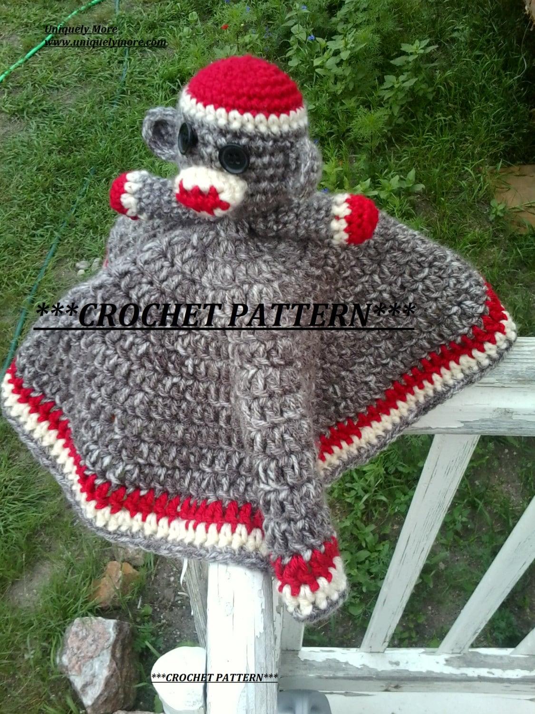 Sock monkey crochet pattern instant download lovey sock zoom bankloansurffo Images
