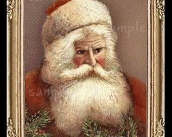 Christmas Santa Claus Miniature Dollhouse Art Picture 6246