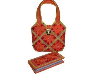 Plastic canvas Tangerine Dream Handbag SET  PDF FORMAT Instant Download