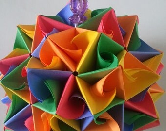 3d Origami kusudama ANT-LION
