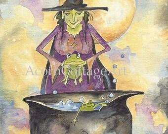 """witch print """"Fiona"""" 8x10"""