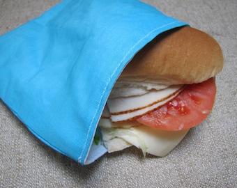 Sale !! Reusable Sandwich Bag Sky Blue