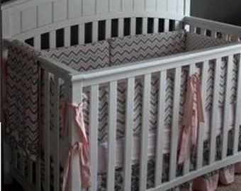 3-Piece Bedding Set Bumper, Gathered Skirt, Fitted Sheet--YOU DESIGN, I CREATE