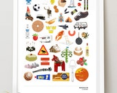 SWEDISH ICON COLLECTION - Best of Sweden. A3 luxury poster print.