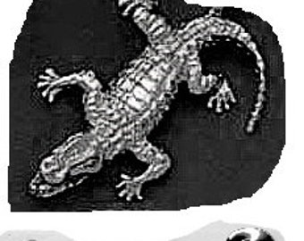 Alligator Tie Tack Sterling Silver Free Shipping