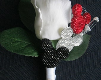 Disney Style Rose Boutonniere
