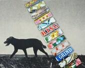 Tin Bracelet, Vintage Bracelet, Vintage Tin, Recycled Bracelet, Recycled Metal Bracelet,Tin Can,Upcycled Bracelet,Tin Jewelry, Tin Bracelet