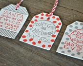 Emily Gaul Letterpress, Holiday Letterpress Tags, Guest Artist, Sarcastic gift tags - Set of 6